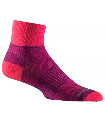 Wrightsock Coolmesh Quarter Donderrood/Roze