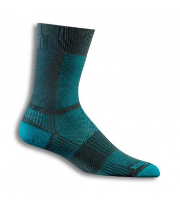 Wrightsock Coolmesh Crew Licht Grijs/Turquoise