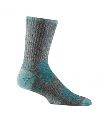 Wrightsock Escape Crew Licht Grijs/Turquoise