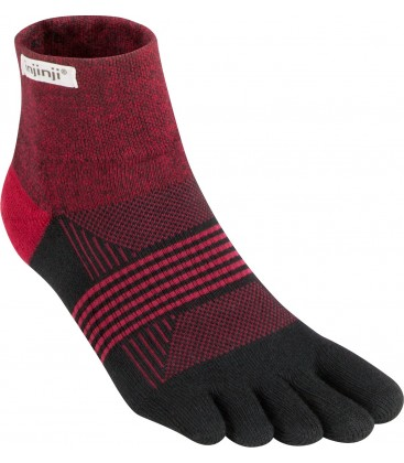 Injinji Women's Trail Midweight Mini-Crew donkerrood