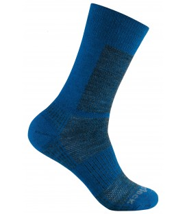 Wrightsock Coolmesh Merino Crew electric blue / grijs