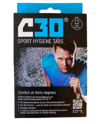 C30 Sport Hygiene Tabs Wastabletten Voorzijde