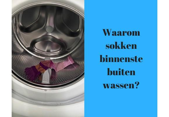 Waarom sokken binnenstebuiten wassen?